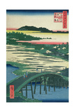 Sugatami Bridge  Omokage Bridge and Jariba at Takata  from the Series 'One Hundred Famous Views…