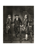 Baron De Kalb (Centre) Introducing Lafayette to Silas Dean  from 'Life and Times of Washington' …