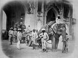 Soldiers with an Elephant Pulling a Gun  1858