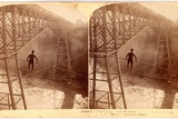 Stereoscopic View Dixon Crossing Niagara Below the Cantilever Bridge  Usa  Printed by Strohmeyer…