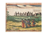 View of Windsor Castle  from 'Civitates Orbis Terrarum' by Georg Braun (1541-1622) and Frans…