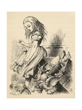 Giant Alice Upsets the Jury Box  from 'Alice's Adventures in Wonderland' by Lewis Carroll …