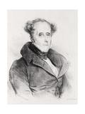 Francois-Rene  Vicomte De Chateaubriand  Engraved by Lemercier