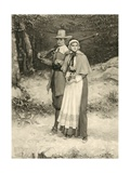 Puritan Couple on their Way to Sunday Worship  Engraved by Thomas Gold Appleton  1885