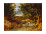 Travellers in a Forest Landscape  1608