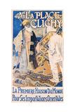 A La Place Clinchy  Printed by Nouvelles Affiches Artistiques  C1890
