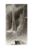 Tennyson's Monument  Engraved by J Mcgoffin  from 'Arctic Explorations in the Years 1853  54 …