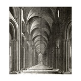 Interior of the Nave of St Paul's  from 'London Pictures: Drawn with Pen and Pencil'  by Rev…