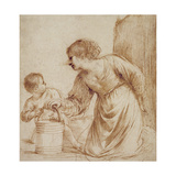 Mother and Child with Pail