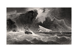 Parting Hawsers Off Godsend Ledge  Engraved by G Ulman  from 'Arctic Explorations in the Years…