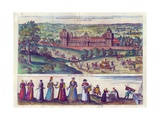 Arrival of Queen Elizabeth I at Nonesuch Palace and Men and Women from Tudor Society  1598
