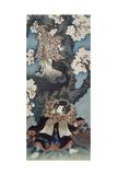 Bando Mitsugoro IV as Sekibei and Onoe Kikugoro III as Somezone in Tsumoru Koi Yuki Seki No To …