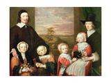 Unidentified Family Portrait  Traditionally Thought to Be That of Sir Thomas Browne  Mid 1640s