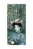 Portrait of Nadezhda Zabela-Vrubel with Birch Trees in the Background