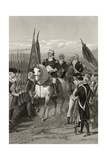 George Washington Taking Command of the Army  1775  from 'Life and Times of Washington'  Volume…