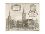 Salisbury Cathedral  Illustration for 'Monaticon Anglicanum' by William Dugdale  1671