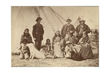 Group About Fort Laramie  Dakota  1868