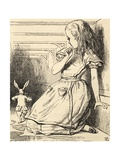 The White Rabbit Is Late  from 'Alice's Adventures in Wonderland' by Lewis Carroll  Published 1891