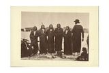 Tashunkakokip (Old Man Afraid of His Horses) and His Chiefs  Oglala  1868