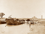Bridge of Boats over the Gomptee  Lucknow