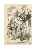 Alice with Flamingo Chats with the Duchess  from 'Alice's Adventures in Wonderland' by Lewis…