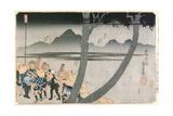 Number 2: Hodogaya  Totsuka  Fujisawa and Hiratsuka Stations  from 'Famous Views of the…
