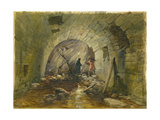 Tunnel under the Via Dolorosa  Jerusalem  1869