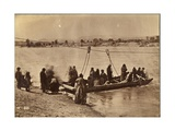 Ferry Near Fort Laramie  Dakota  1868