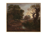 Wooded Landscape with Drover and Cattle and Milkmaids  C1772