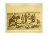 Indians Killing and Cutting Up a Steer  1868