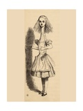 Alice Grows Taller  from 'Alice's Adventures in Wonderland' by Lewis Carroll  Published 1891