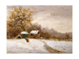 Gypsy Caravans in the Snow