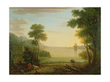 Classical Landscape with Figures and Animals  Sunset  1754