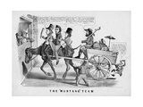 "The ""Mustang"" Team  Published by Currer and Ives  New York  C1856"