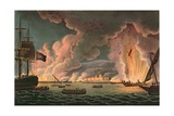 Destruction of the French Fleet at Toulon  18th December 1793  Engraved by Thomas Sutherland…