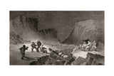 Crossing the Ice Belt at Coffee Gorge  Engraved by R Hinshlewood  from 'Arctic Explorations in…