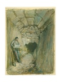 Rock-Cut Conduit under Robinson's Arch  Jerusalem  1871 (W/C and Pencil on Paper
