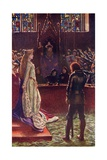 Sir Lanval's Lady Appeals to the Judges  Illustration from 'Romance and Legend of Chivalry' by A…
