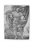 Portrait of a Military Ensign in the Thirty Years' War (1518-1548)  1526