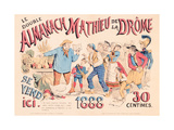 Poster Advertising 'Almanach Mathieu De La Drome'  1888