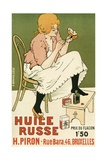 Poster Advertising 'Huile Russe' Shoe Protector  1896