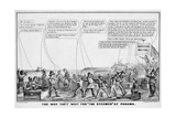 """The Way They Wait for """"The Steamer"""" at Panama  Published by N Currier  New York  1849"""