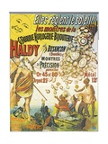 Poster Advertising 'Horlogerie-Bijouterie Haldy'  before 1890