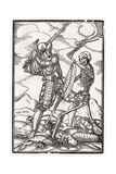 Death Comes to the Soldier  Engraved by Georg Scharffenberg  from 'Der Todten Tanz'  Published…