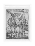 Military Ensign  Drummer and Piper in the Thirty Years' War (1518-48)  Engraved by Sebald Beham …