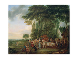 Soldiers Having a Meal in the Countryside  1788