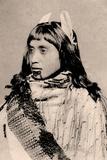 Maori Girl with Moko Chin