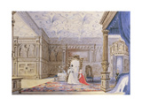 View of the Inlaid Chamber  Sizergh Castle  Cumbria  C1840