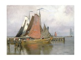 Fishing Boats Leaving Zuyderzee Port  1899