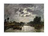 Moonlight  Canal De St Valery  1891